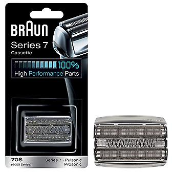 Braun 70S Series 7 Electric Shaver Replacement Cassette Cartridge Foil Series 7 Pulsonic 9000- Silver
