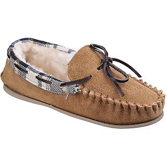 Cotswold Womens/Ladies Kilkenny Faux Fur Lined Suede Moccasin Slippers