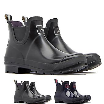 Womens Joules Wellibobs Glossy Waterproof Rain Snow Wellington Ankle Boot