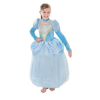 فستان الأميرة بنوف الأزرق + قلادة