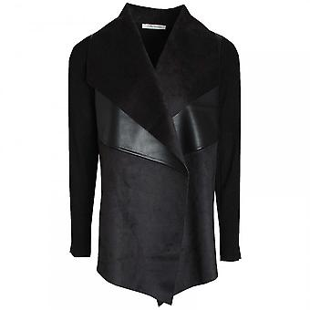 Betty Barclay Leather & Suede Effect Drape Jacket
