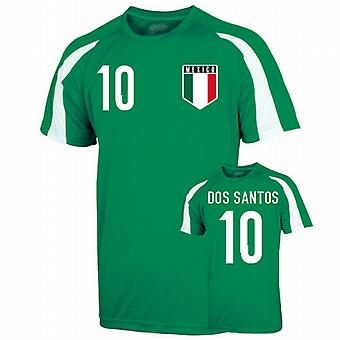Mexico Sports Training Jersey (dos Santos 10)