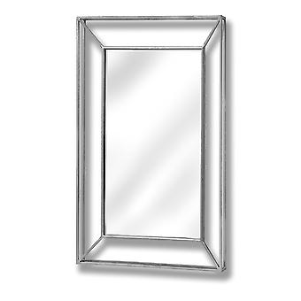 Hill Interiors Large Framed Design Pronounced Silver Wall Mirror