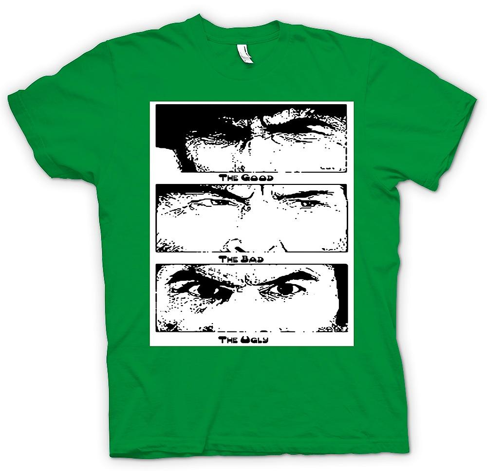 Mens T-shirt - gute Bad and the Ugly - BW