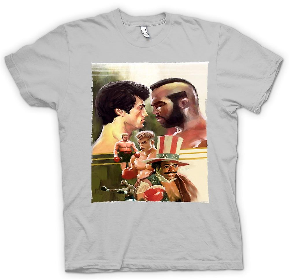 Herr T-shirt - Rocky - boxning Movie - Collage