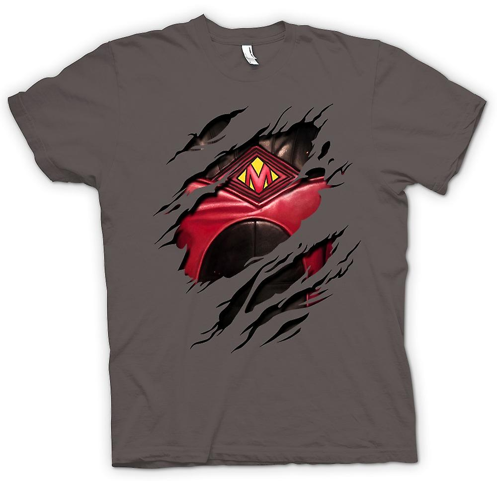 Womens T-shirt - Red Mist Ripped Design - Kickass Inspired Superhero