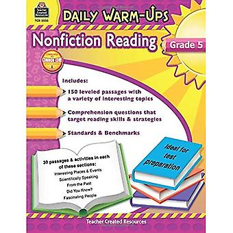 Nonfiction Reading, Grade 5 (Daily Warm-Ups)