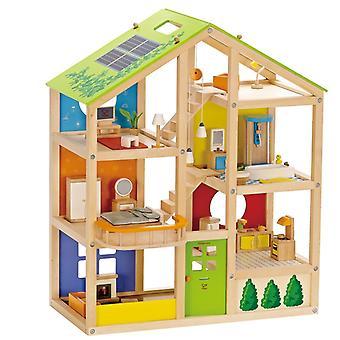 Jeu d'imitation enfant jeux jouets Maison de poupée toute saison meublée 0102100