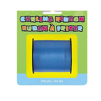 91m Blue Curling Ribbon - 5mm Wide | Gift Wrap Supplies