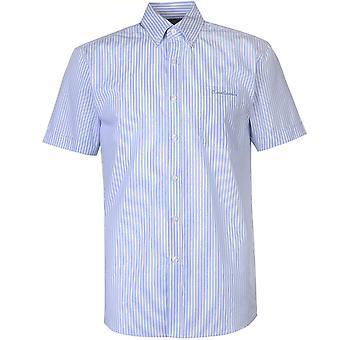 Pierre Cardin Mens Short Sleeve Stripe Shirt Casual Tops
