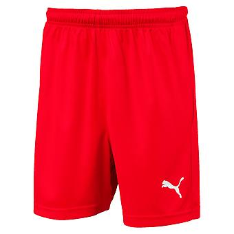 PUMA League s core w letter Jr kids of soccer shorts Red