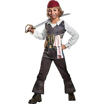 Pirates of The Caribbean Captain 5 Captain Jack Sparrow Child Costume