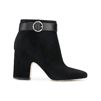 Michael Kors Alana Black Suede Ankle Boots