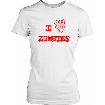 Jeg elsker zombier damer T Shirt