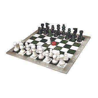 Grün & weißen Alabaster Schachspiel