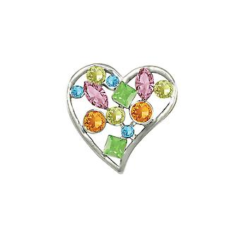 Eternal Collection Adoration Multi Coloured Austrian Crystal Brooch