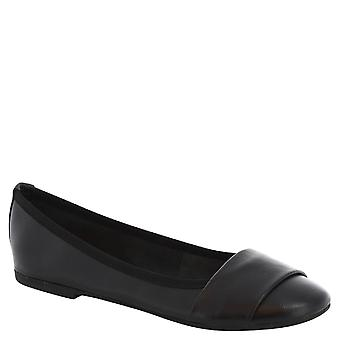 Leonardo Schuhe Frau handgefertigten Ballerinas aus schwarzem Leder