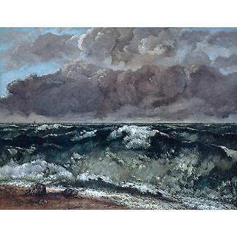 The Wave,Gustave Courbet,50x38cm