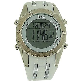 Angel Or Demon Mens/Boys Digital Chronograph White Silicone Strap Everyday Watch