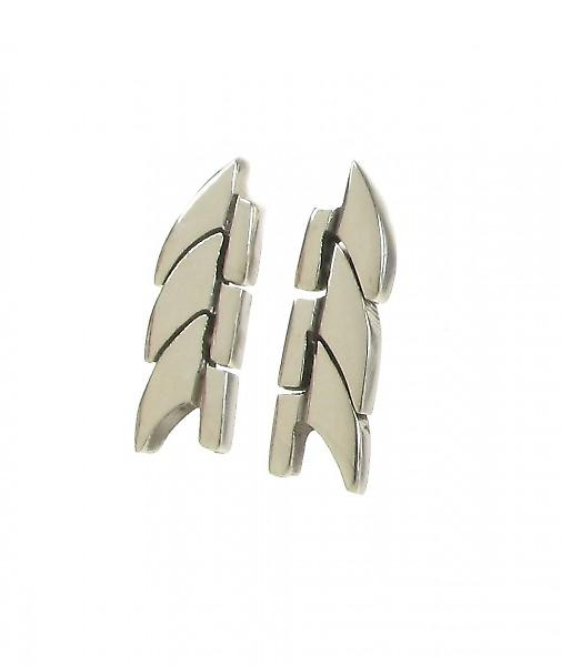 Cavendish French Sterling Silver Laurel Wreath Earrings