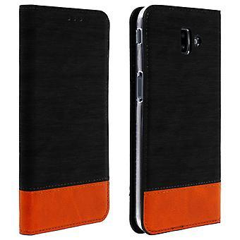 Samsung Galaxy J6 Plus flip Wallet Case-preto denim Case