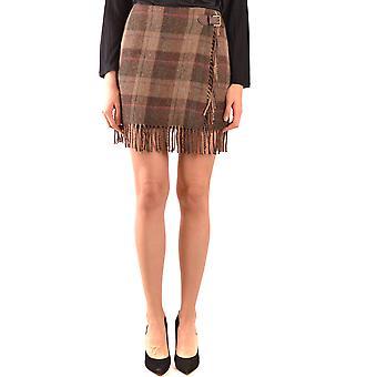 Ralph Lauren Brown Wool Skirt