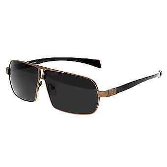 Breed Sagittarius Titanium Polarized Sunglasses - Brown/Black