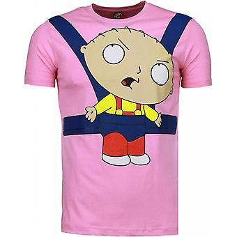 Baby Stewie-T-shirt-Pink