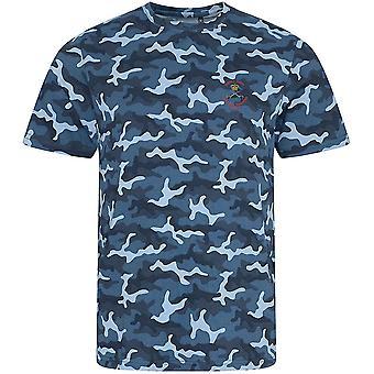 Exército real corpo de treinamento físico PTI-cor-licenciado British Army bordados camuflagem imprimir T-shirt