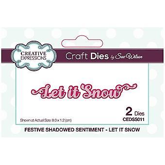 Sue Wilson Die Set Let It Snow | Festive Shadowed Sentiment