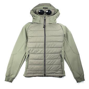 CP Company Nylon Mix Hooded Goggle Jacket Khaki