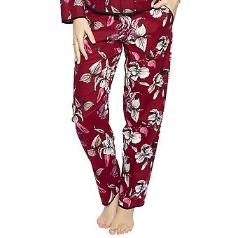 Cyberjammies 4269 Women's Alice Burgundy Red Mix Floral Cotton Pyjama Pant