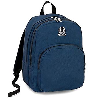 Backpack Invicta Benin M Eco-Material - Blue - 28 Lt - Double Compartment - Laptop Pocket Up 15'' - School & Leisure