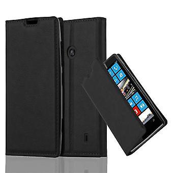 Cadorabo tilfældet for Nokia Lumia 520 sag Cover-telefon tilfældet med magnetisk lukning, stativ funktion og kort case rum-sag Cover sag sag case sag bog folde stil