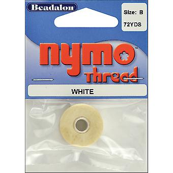 Nymo Thread .20X72 Yards White 122A 001