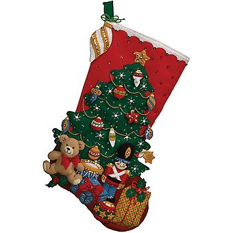 Unter dem Baum Stocking Felt Applique Kit 18
