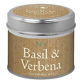 Simply Natural Collection Candle in a Tin - Basil & Verbena