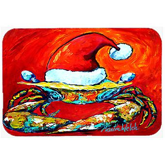 Crabe en Santa Hat Santa Claws Glass Cutting Board grande taille MW1169LCB