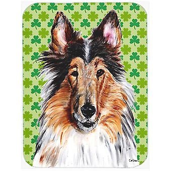 Collie Lucky Shamrock St. Patrick's Day Glass Cutting Board Large Size SC9718LCB