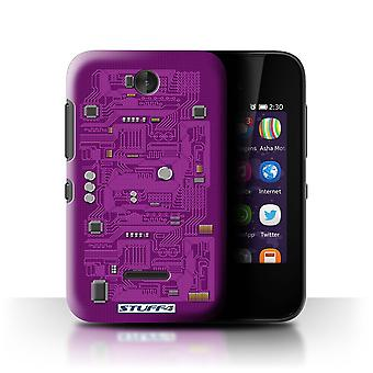 STUFF4/Housse pour Nokia Asha 230/Purple/Circuit Board