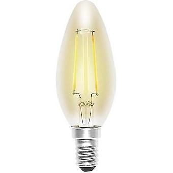 LED (monochrome) Sygonix 230 V E14 2 W = 18 W Gold EEC: A++ Candle (Ø x L) 35 mm x 99 mm Filament 1 pc(s)
