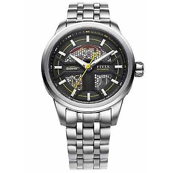FIYTA Mens Stainless Steel Strap Black Dial GA866003.WBW Watch