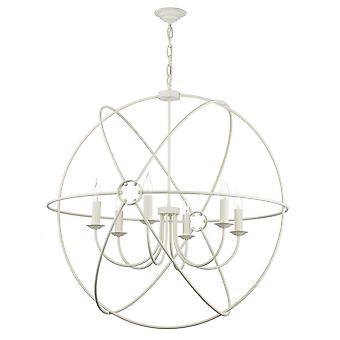 David Hunt ORB0633 Orb traditionele 6 licht hanger met een crème Finish