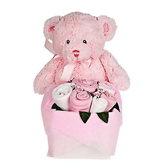 Rosebud Teddy Box - Sugar Pink
