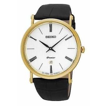 Seiko Premier Mens or plaqué montre SKP396P1