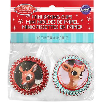 Mini Baking Cups-Rudolph The Red Nosed Reindeer W7011