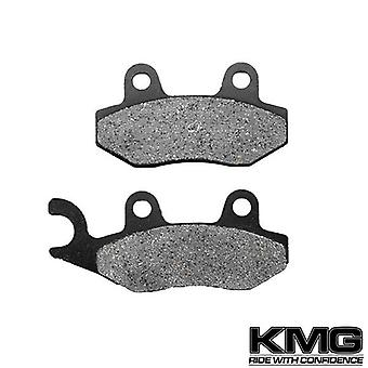 KMG 1989-2005 Kawasaki KLF 300 Bayou 4X4 Front Right Non-Metallic Organic NAO Disc Brake Pads Set