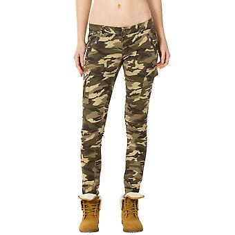 Slim Camouflage Cargo Pants - Green