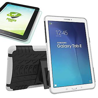 Hybrid outdoor bag white for Samsung Galaxy tab E 9.6 SM T560 + 0.4 armoured glass