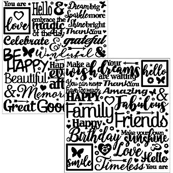 Dazzles Stickers-Words-Black DAZ-2842